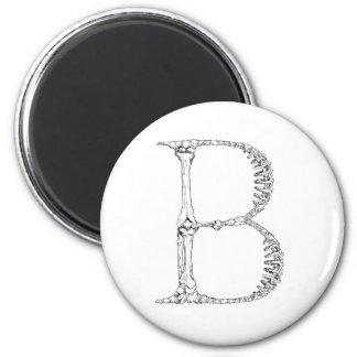 Aimant Lettre B d'os d'alphabet