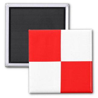 Aimant Lettre nautique U (uniforme) de signe d'alphabet