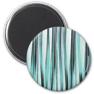 Aimant Lignes bleues cyan motif de Stripey d'océan
