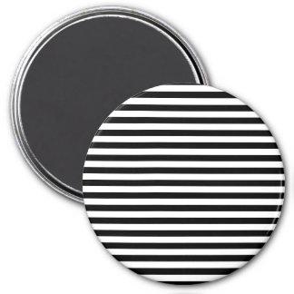Aimant Lignes parallèles, motif des rayures - noir blanc