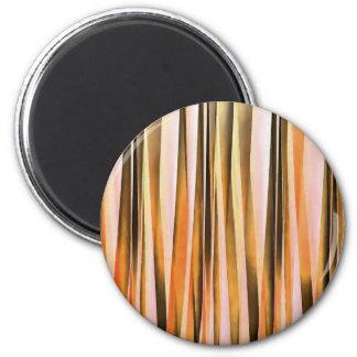Aimant Lignes rayées oranges motif d'automne de Brown et