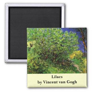 Aimant Lilas de Van Gogh, fleurs vintages, beaux-arts