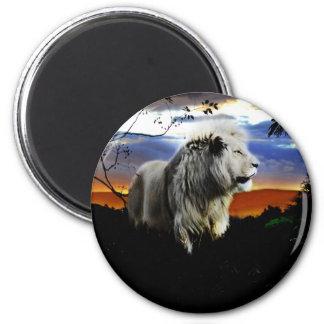 Aimant Lion de l'Afrique du Sud dans la jungle