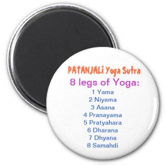 Aimant Liste de contrôle de YOGA : 8 étapes de PATANJALI