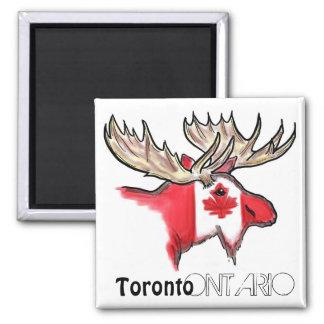 Aimant local de drapeau de Toronto Ontario Canada