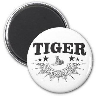 Aimant logo de fantaisie de tigre