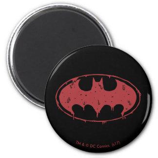 Aimant Logo de suintement de batte rouge de Batman |