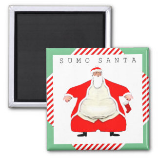 Aimant Lutteur Père Noël de sumo