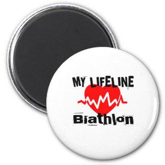 Aimant Ma ligne de vie biathlon folâtre des conceptions