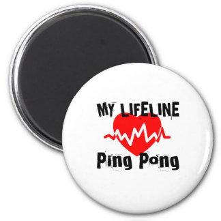 Aimant Ma ligne de vie ping-pong folâtre des conceptions