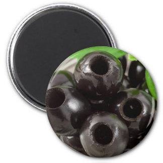 Aimant Macro vue détaillée des olives noires