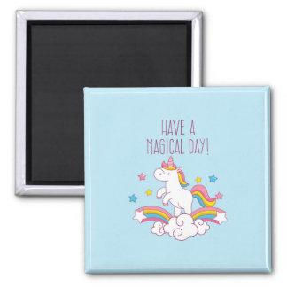 Aimant magique de licorne d'arc-en-ciel de jour