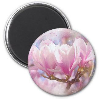 Aimant Magnolia pourpre rose de floraison - fleur de