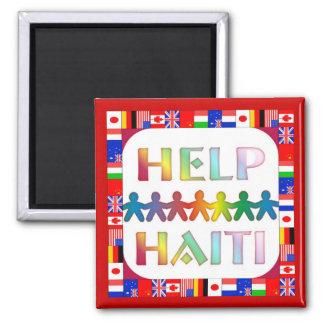 Aimant Mains aidant l'aimant du Haïti