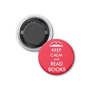 Aimant Maintenez calme et lisez les livres