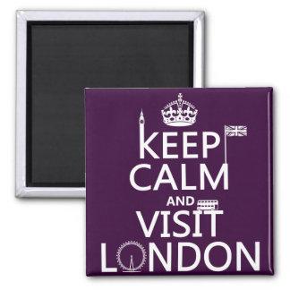 Aimant Maintenez calme et visite Londres