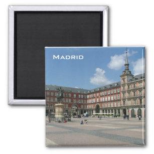 Madrid magnétique plaza de Cibeles Espagne souvenir réfrigérateur magnétique