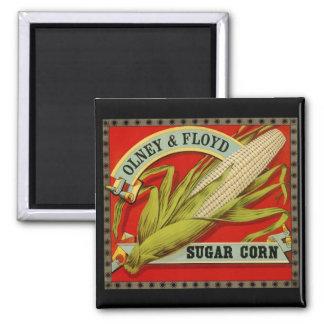 Aimant Maïs de sucre végétal vintage d'étiquette, d'Olney