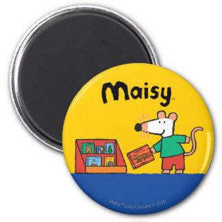 Aimant Maisy avec des livres de bibliothèque