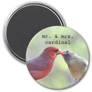 Aimant Mâle et photo cardinale femelle