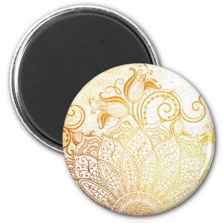 Aimant Mandala - brosse d'or