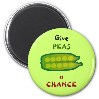 Aimant Mangez de votre légume donnent à des POIS un