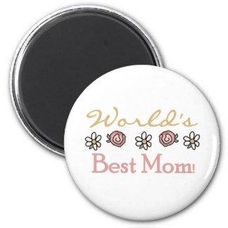 Aimant Marguerites et maman du monde de roses meilleure