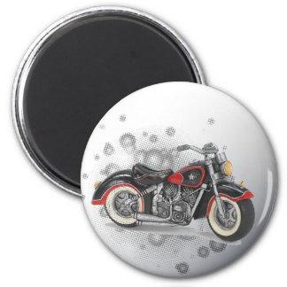Aimant Mariage grunge rustique de cycliste de Motorcyle