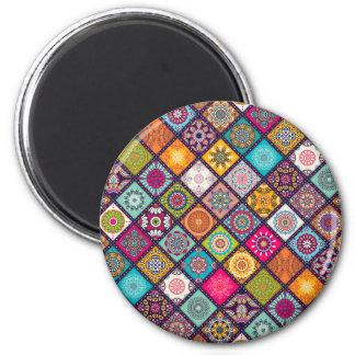 Aimant Marocain coloré de motif de mandala