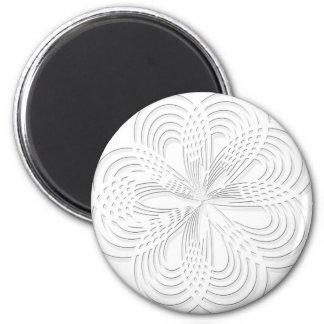 Aimant marque ronde de conception de cercle de rosette