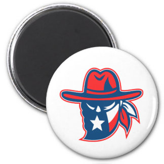 Aimant Mascotte de drapeau du Texas proscrite par Texan
