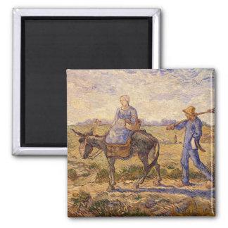 Aimant Matin de Vincent van Gogh |, sortant pour