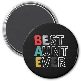 Aimant Meilleure tante drôle et mignonne Ever Cool tante