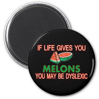 Aimant Melons dyslexiques