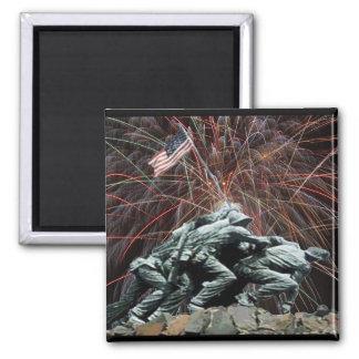 Aimant Mémorial de guerre de Corp. marine avec des feux