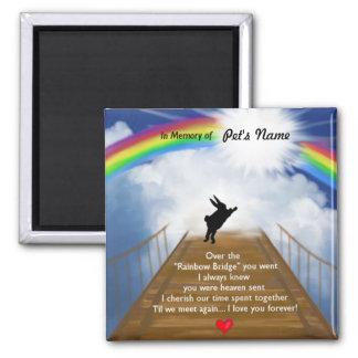 Aimant Mémorial de pont en arc-en-ciel pour des lapins