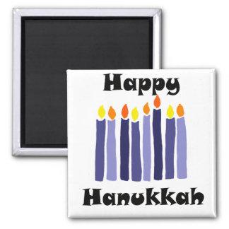 Aimant Menorah frais mire l'art heureux de Hanoukka