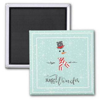 Aimant Menthe ID440 de bonhomme de neige de Noël de magie
