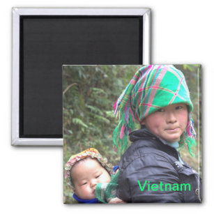 Aimant Mère et enfant dans Sapa Vietnam