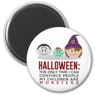 Aimant Mes enfants sont conception de Halloween de