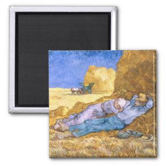 Aimant Midi de Vincent van Gogh  , la sièste, après