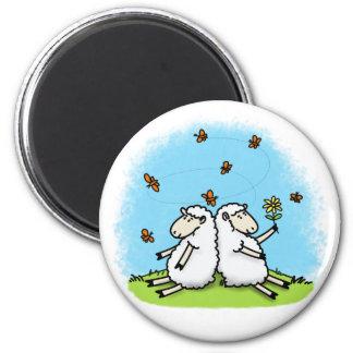 Aimant mignon de bande dessinée de moutons