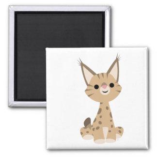 Aimant mignon de Lynx de bande dessinée