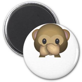 Aimant Mignon ne parlez aucun singe mauvais Emoji