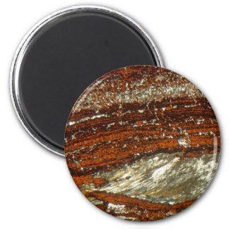 Aimant Minerai de fer sous le microscope