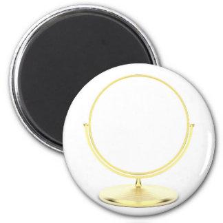 Aimant Miroir de maquillage d'or