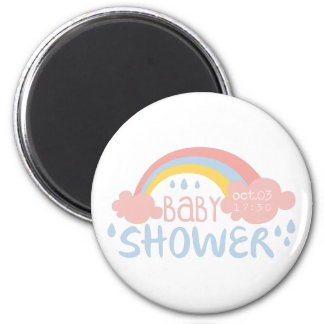 Aimant Modèle de conception d'invitation de baby shower