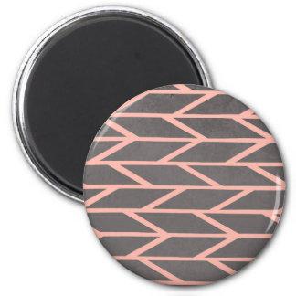 Aimant Moderne rougissent le gris géométrique de chevron