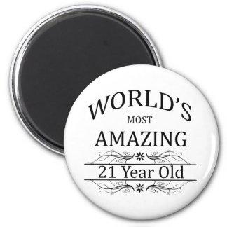 Aimant Monde le plus stupéfiant 21 ans