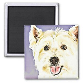Aimant Montagne Terrier blanc occidentale, Westie, chien,